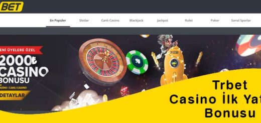 Trbet Casino İlk Yatırım Bonusu